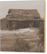 Old Barn In Oregon Wood Print