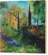Old Barn In Provence  Wood Print
