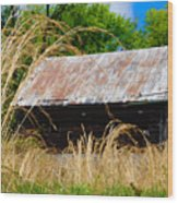 Old Barn In Roxborough Wood Print