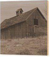Old Barn In Washington Wood Print