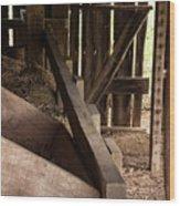 Old Barn Interior Wood Print