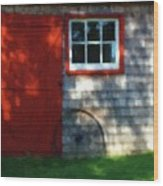 Old Barn New Paint Wood Print