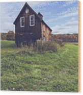 Old Barn Out In A Field Wood Print