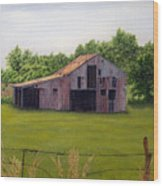 Old Barn  Poetry Tx Wood Print