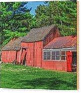 Old Barn Ridge Li.ny Wood Print