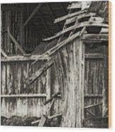 Old Barn Ruin 3 Wood Print