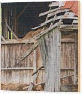 Old Barn Ruin  Wood Print