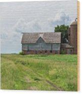 Old Barn Country Scene 4 A Wood Print