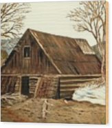 Old Barn Series 1 Wood Print