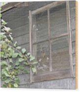 Old Barn Window Wood Print