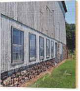 Old Barn Windows Wood Print