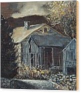 Old Barns Wood Print