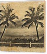 Old Beach Wood Print