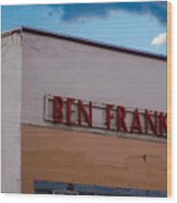Old Ben Franklin Store 2 #vanishingtexas Rosebud Wood Print