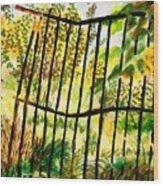 Old  Bent Gate Wood Print