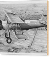 Old Bi Plane Wood Print