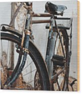 Old Bike II Wood Print