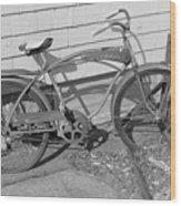 Old Bike Wood Print