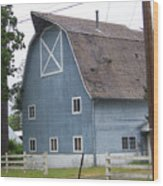 Old Blue Barn Littlerock Washington Wood Print