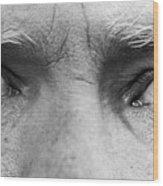Old Blue Eyes Wood Print