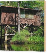 Old Boat House Wood Print