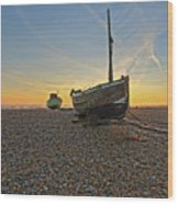 Old Boat, New Day Wood Print