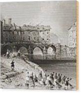 Old Boats Bridge, Limerick, Ireland Wood Print