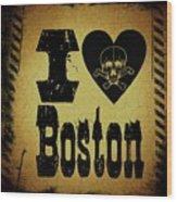 Old Boston Wood Print