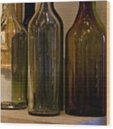 Old Bottles Wood Print