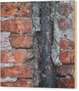 Old Brick Wall Abstract Wood Print