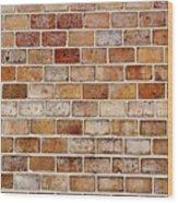 Old Brick Wall Wood Print