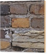 Old Bricks Wood Print