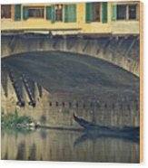 Ponte Vecchio Protection Wood Print