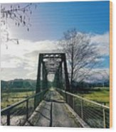 An Old Railroad Bridge  Wood Print