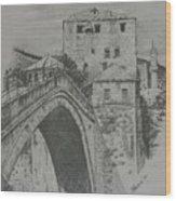 Old Bridge -mostar Wood Print