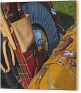 Old British Luggage Wood Print