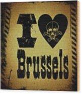 Old Brussels Wood Print