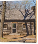 Old Cabin Wood Print