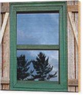Old Cabin Window Wood Print