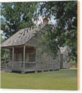 Old Cajun Home Wood Print