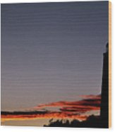 Old Cape Henry Sunrise Wood Print