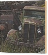 Old Car And Truck Wood Print