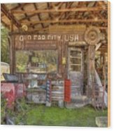 Old Car City Usa Wood Print
