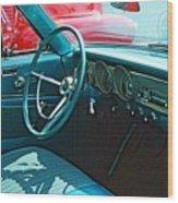 Old Car Interior Wood Print