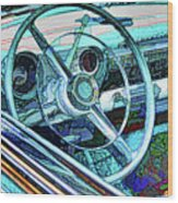 Old Car Wheel Wood Print