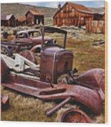 Old Cars Bodie Wood Print