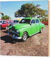 Old Cars Cuba Wood Print