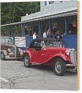 Old Cars Wood Print