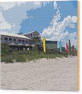 Old Casino On An Atlantic Ocean Beach In Florida Wood Print