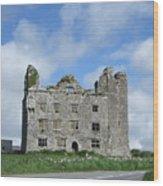 Old Castle In Ireland Wood Print